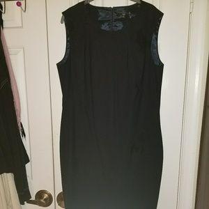 A sleek black dress